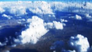 Небо над Америкой из окна самолёта