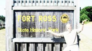 Въезд в исторический парк США Форт Росс